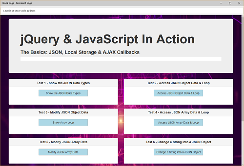 JSON, LocalStorage & Ajax Callbacks